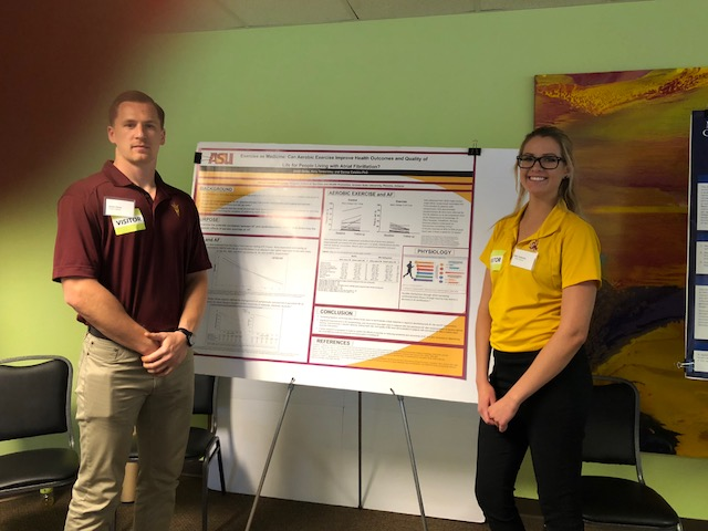Poster Presentation by Kelly Tankersly and Jared Gerez: Exercise as Medicine: Can Aerobic Exercise Improve Health Outcomes & Quality of Life for People with A. Fib?