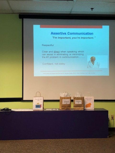 Heather Rabin, PhD spoke on 'Assertive Communication in Healthcare'