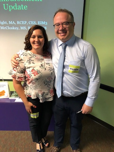 Jamie Legan-Leon and Dr. Kaynak who spoke about Percutaneous Treatment Options in Structural Heart Disease during the breakout session.