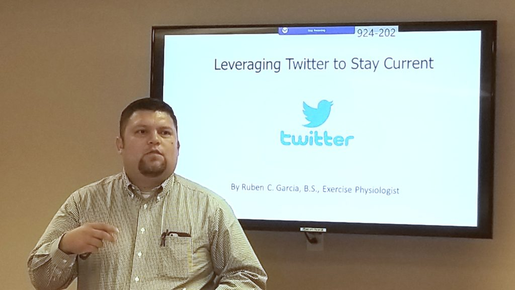 Ruben Garcia, EP discusses 'Leveraging Twitter to Stay Current'