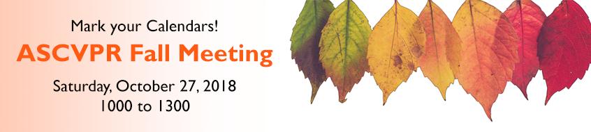 ASCVPR Fall Meeting 2018 Announcement