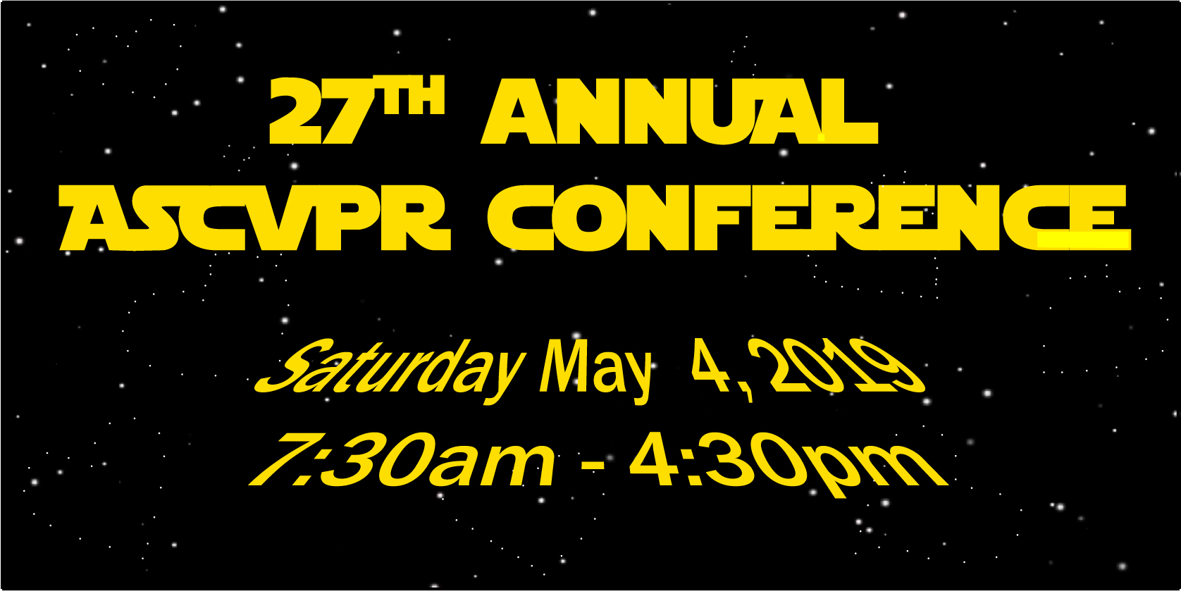 27th Annual ASCVPR Conference - May 4, 2019